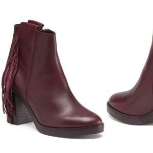 FABIANELLI ITALIAN SHOEMAKER Fringed Leather Boots
